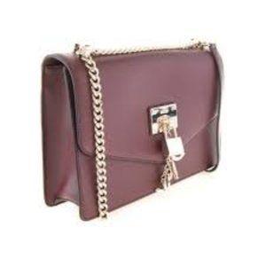DKNY Elissa Leather Gold Chain Shoulder Bag New
